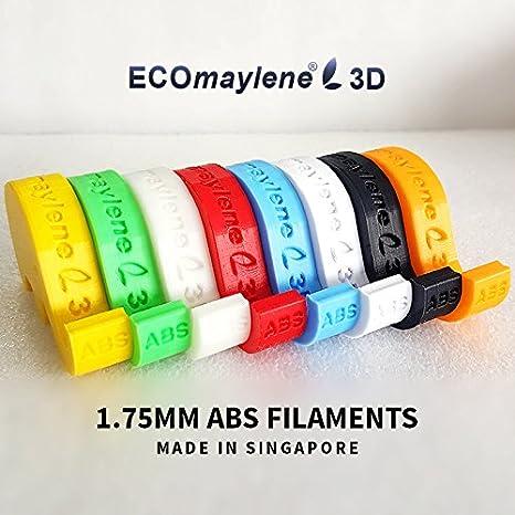 Rosy Rojo - ecomaylene3d ABS Filamento Impresora 3d, bobina de 1 ...