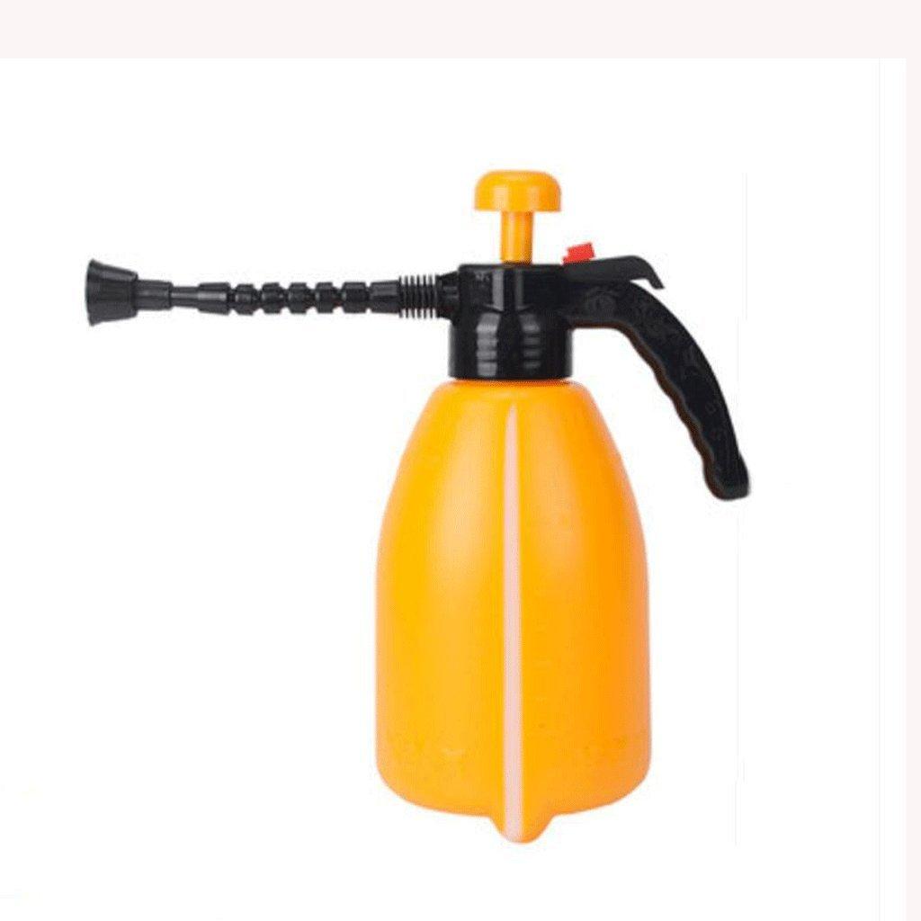 Wddwarmhome innaffiatoio Arancione 2L plastica pneumatico spruzzatore spruzzatore innaffiatura Pot Irrigazione bollitore spruzzatore di giardinaggio fiori da giardino
