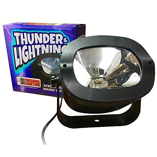 Strobe Light - ThunderStrobe - Simulates Thunder & Lightning - Great for Halloween Decoration