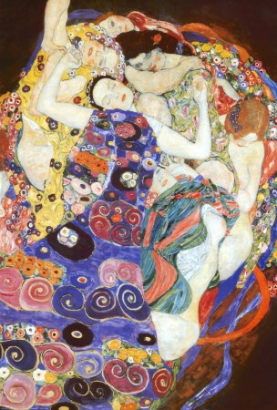 Virgin People Poster Print by Gustav Klimt, 24x36 College Po