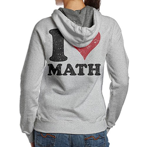 JingleBoo Vintage I Love Math Women's Hoodies Printed On The Back - Sunglasses Obey