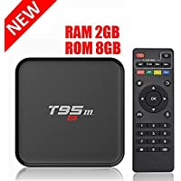 HONGYU T95M 2G/8G Android 6.0 Smart TV Box Amlogic S905X Quad Core with 2.4G Wifi 100M Ethernet LAN 4K Ultra HD 3D OTT TV Media Player
