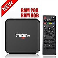 HONGYU T95M 2G/8G Android 6.0 Smart TV Box Amlogic S905X Quad Core with 2.4G Wifi 100M Ethernet LAN 4K Ultra HD 3D OTT TV Media Player