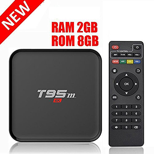 HONGYU T95M 2G/8G Android 6.0 Smart TV Box Amlogic S905X Quad Core with 2.4G Wifi 100M Ethernet LAN 4K Ultra HD 3D OTT TV Media Player by Hongyu