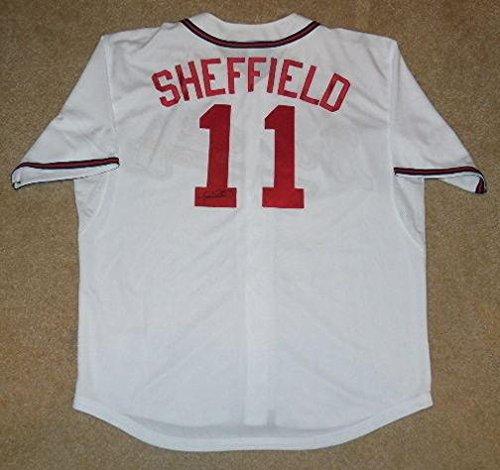 Jersey Autographed Sheffield Gary (Gary Sheffield Autographed Jersey (braves) W/Proof! - Autographed MLB Jerseys)