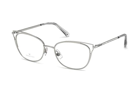 1042ab8c6b4a Eyeglasses Swarovski SK 5260 016 shiny palladium  Amazon.co.uk  Clothing