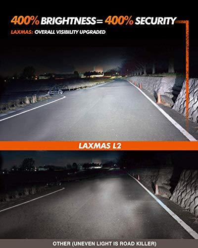 SEALIGHT Laxmas L2 H11 9005 LED Headlight Bulb Kit, High Beam Low Beam, Ultra-thin, 360-degree Illumination, 6000K Daylight Effect, 400% Brightness, Pack of 4