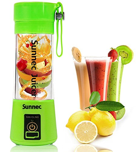 Best Price! Sunnec USB Juicer Cup, Fruit Mixing Machine, Portable Personal Size Eletric Rechargeable...
