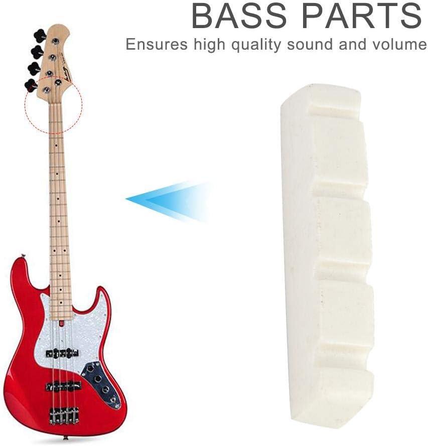 44/×5.8/×8mm Zerone Bass Guitar Nut 2 Pcs Quality Plastic 4 String Bass Guitar Nut Musical Instrument Replacement