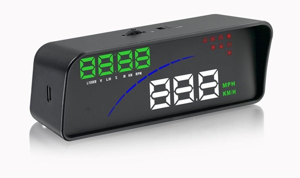 temperatura del agua voltaje compatible con OBD II EOBD sistema modelo coches dos modos de visualizaci/ón alarma de advertencia de exceso de velocidad Lzcat Car HUD P9 Smart GPS Head Up Display con OBD2