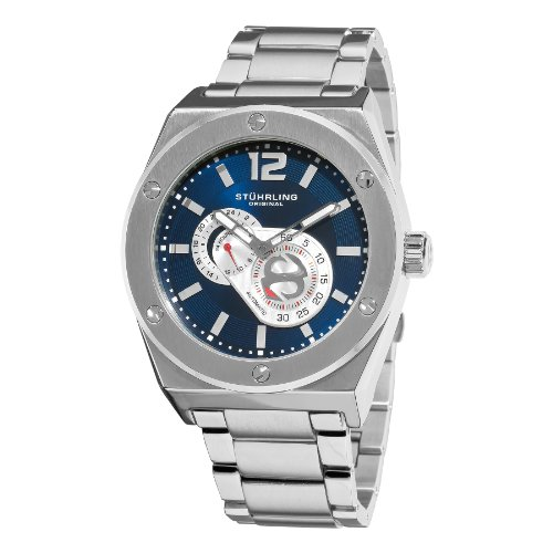 Stuhrling Original Men's 281B.331121 Leisure Gen-X Esprit D'vie Automatic Blue Dial Stainless Steel Bracelet Watch