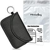 Naviurway Key Fob Signal Blocking Bag Auto RFID Blocking Holder Anti-Hacking Security Bag Car Smart Keyless Entry Remote Fob Controller Black