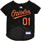 Pets First MLB BALTIMORE ORIOLES Dog Jersey, Medium. - Pro Team Color Baseball Outfit