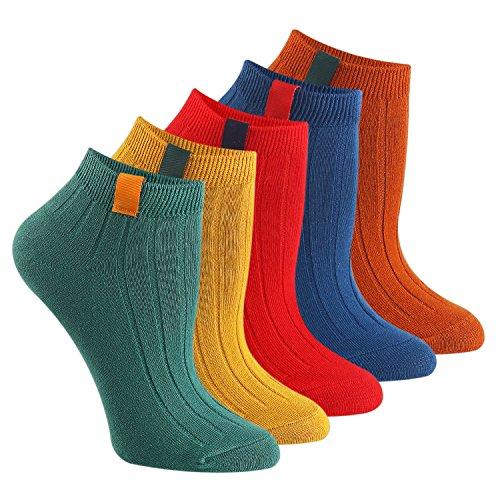 Pure Stripe Knitting Ankle Socks