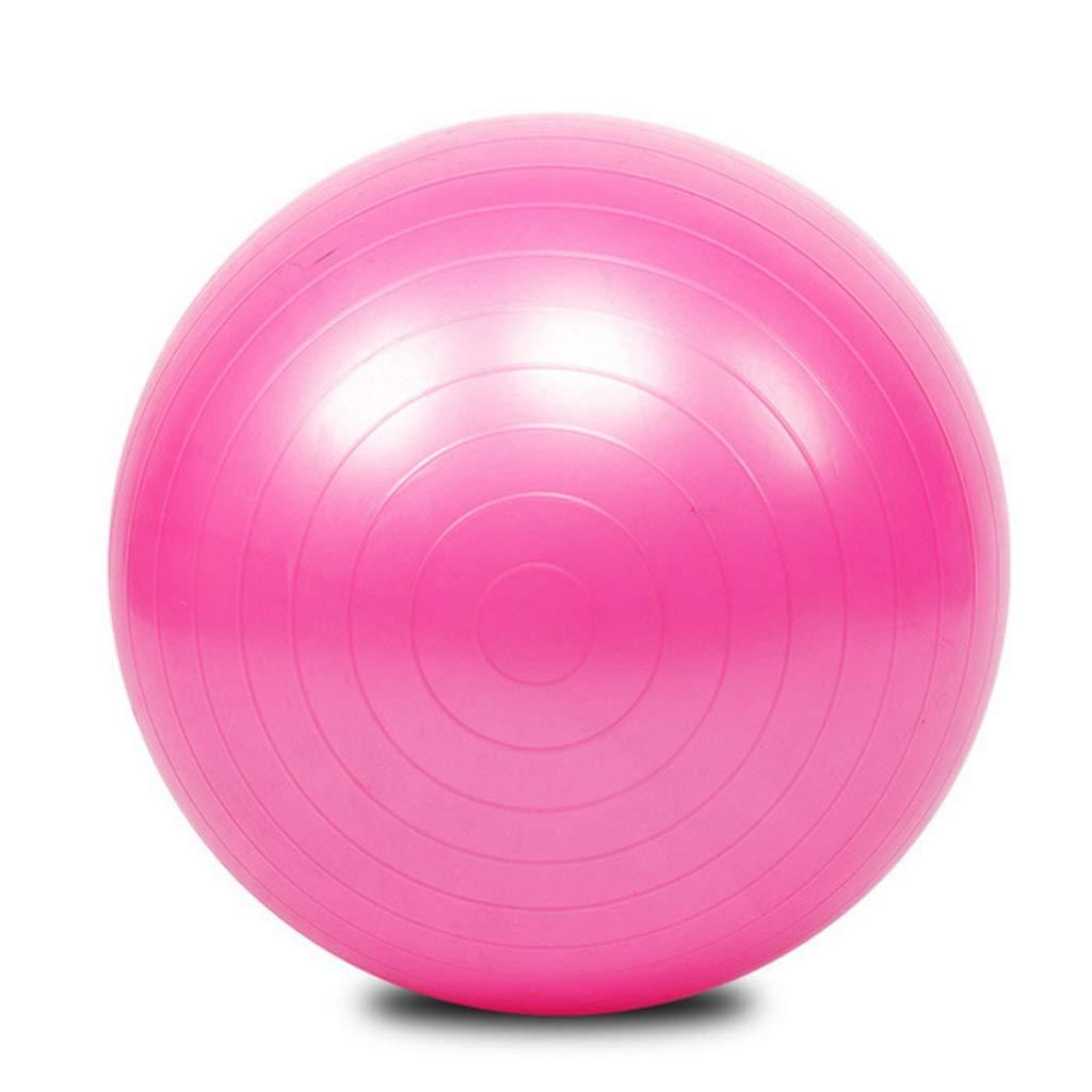 TMY Ballon De Yoga Anti-déflagrant PVC 55cm65cm75cm Ballon De Fitness (Color : Pink)