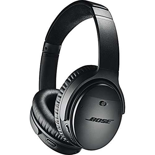 Bose QuietComfort 35 (Series II) Wireless Headphones, Noise Cancelling - Black (Renewed) (Best Audiophile Voices Iii)