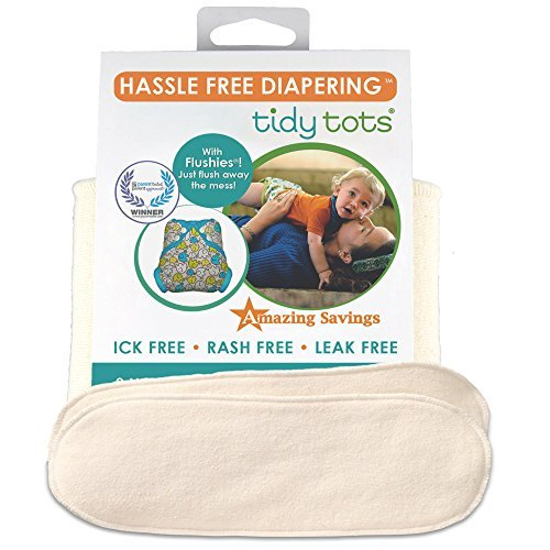 Tidy Tots Diapers Hassle Free 4-layer Organic Hemp Booster 2 Pack O|S