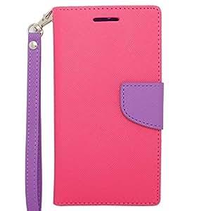 HTC Desire 510 Case , INSTEN® Pink/Purple Wallet Flap Pouch compatible with HTC Desire 510