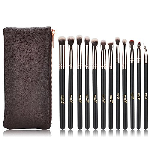 MSQ Eyeshadow Brushes 12pcs Rose Gold Eye Make Up Brush Set