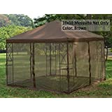 Universal 10' x 10' Gazebo Replacement Mosquito Netting - Brown
