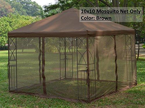 Universal 10 X 10 Gazebo Replacement Mosquito Netting