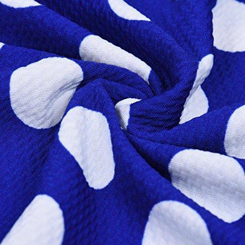 Anboo Des Femmes De Points Vintage Polka De 1950 Robe Swing Fête Décontractée Taille Plus Bleu