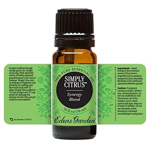 Simply Citrus Synergy Blend Essential Oil by Edens Garden- 10 ml (Blood Orange, Grapefruit, Lemon, Mandarin, Spearmint, and Sweet Orange) by Edens Garden (Image #1)