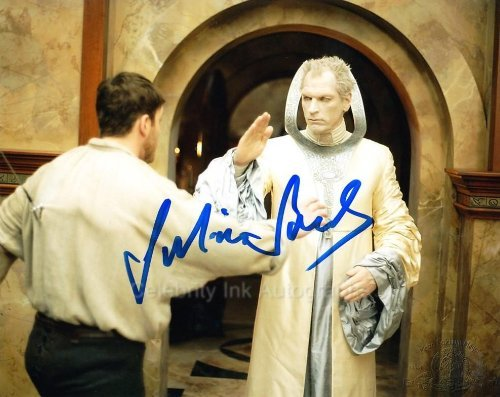 JULIAN SANDS as The Doci - Stargate: SG-1 Genuine Autograph from Celebrity Ink