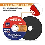 WORKPRO 20-pack Cut-Off Wheels, 4-1/2 x 7/8-inch