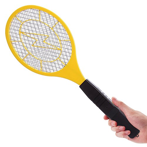 Bug zapper- Electric Fly Swatter ,handheld Insect Fly Killer, Mosquito Zapper against Flies,Bugs,Bees and Other Pest,Unique 3-Layer Safety Mesh Safe to Touch for Indoor and Outdoor Pest Control by Henscoqi (Image #1)'