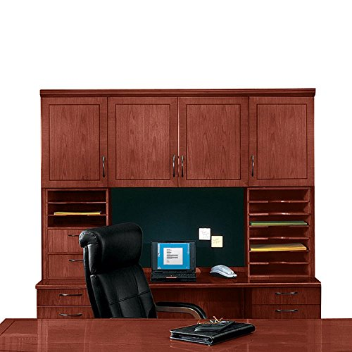 Deluxe Hutch without Moulding Brown Cherry Dimensions: 72''W x 15''D x 50''H Weight: 340 lbs by DMI Furniture
