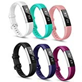 iCozzier For Fitbit Alta Hr Band 6-colors, Stylish 3D Diamond Decorative Pattern Design Adjustable Fitness Wristband Strap Replacement Multi Colors for Fitbit Alta Hr - Small