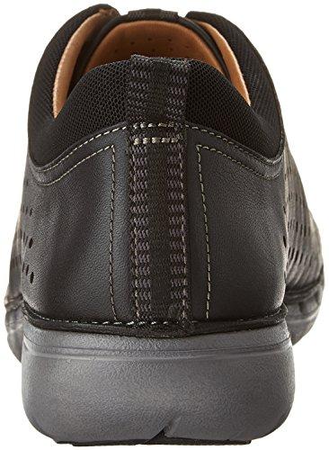 Clarks Women's Un.Press Sneaker,Black Cow Full Grain Leather,US 6.5 M