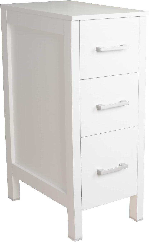 Amazon Com Eclife 12 Bathroom Cabinet 3 Drawer Organizer Free Standing Single Vanity Small Nightstand White Vanity Mdf Vertical Dresser Storage Tower Vanity Bedroom Bathroom Entryway B11w Kitchen Dining