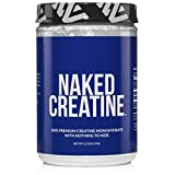 NAKED CREATINE – Pure Creatine Monohydrate – 2.2lb Bulk, Non-GMO, Gluten Free, Soy Free. Aid Muscle Growth & Strength Gains, No Artificial Ingredients –- 5g per Serving - 200 Servings