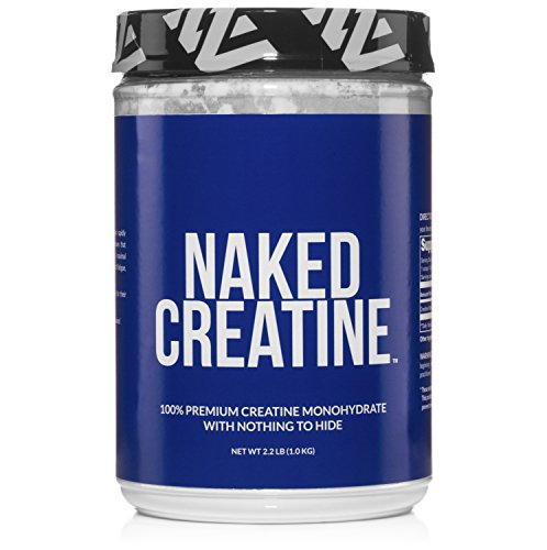 Pure Creatine Monohydrate - 200 Servings - 1,000 Grams, 2.2lb Bulk, Non-GMO, Gluten Free, Soy Free. Aid Strength Gains, No Artificial Ingredients - NAKED CREATINE