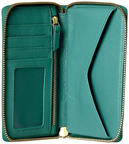 Caroline Rfid Phone Wallet Wallet, Teal Green, One Size