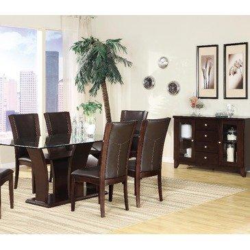 Homelegance Daisy 7 Piece Rectangular Dining Room Set In Espresso