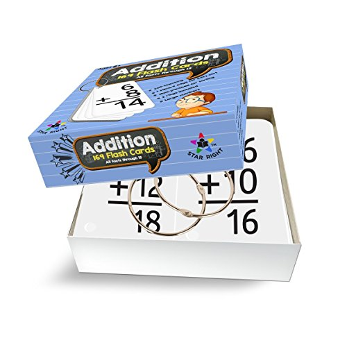 Star Right Addition Flash 0-12 (All Facts, 169 Cards) 2 Rings by Star Right (Image #4)