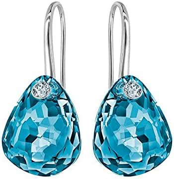 Swarovski Blue Crystal Parallele Earrings
