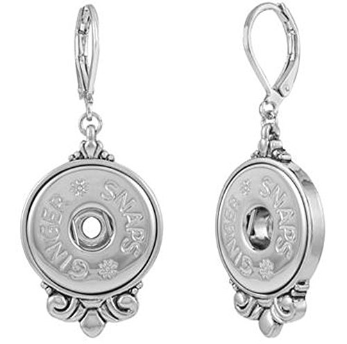 Ginger Snaps SCROLL EARRINGS SN95-11 (Standard Size) Interchangeable Jewelry