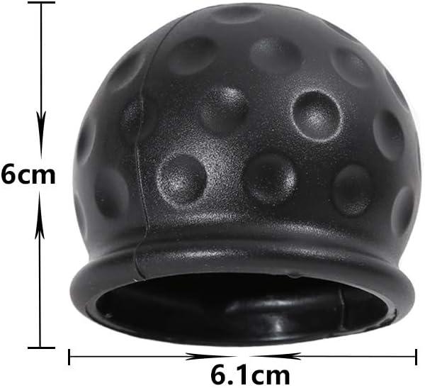 Soft Ball Protect Tow Bar Ball Case TAEUTO 4 x 50mm Trailer Black Rubber Tow Bar Ball Tow Ball Cover Car Hitch Cover Suitable for Trailer Truck Caravan RV Car Hitch Cover Rubber