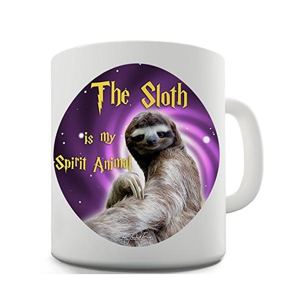 Twisted Envy Sloth Is My Spirit Animal Ceramic Tea Mug -