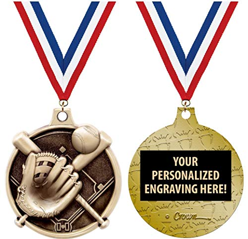 Crown Awards Softball Medals - 1 1/2