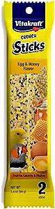 Vitakraft Triple Baked Crunch Sticks with Egg and Honey Canary Treat (6 Packs/2 Treats per Pack)