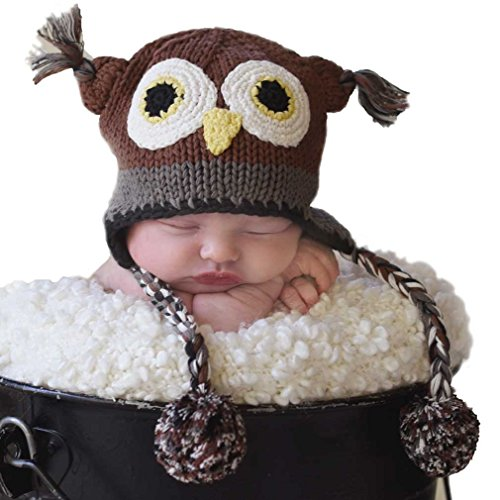 (Huggalugs Baby and Toddler Boys or Girls Barn Owl Beanie Hat)
