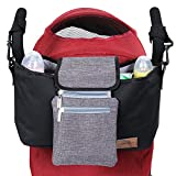 Lifewit Baby Stroller Organizer, Diaper Bag with Deep Cup Holders, Shoulder Strap and Extra Storage Space for Organizing Mom's Goods