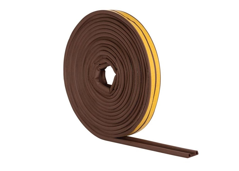 4 Pack of Stormguard EPDM P Profile Self-Adhesive Rubber Draught Excluder 05SR0340010MB 10m Brown