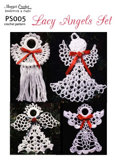Pattern Crochet Angel - Crochet Pattern Lacy Angels PS005-R