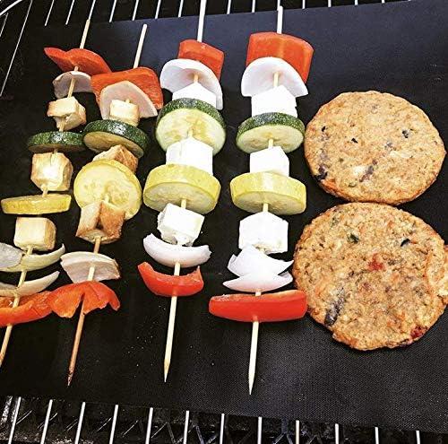 Tapis de barbecue antiadhésif résistant aux températures élevées pour barbecue en téflon